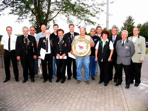 Verdiente SSV-Mitglieder vom Schützenverband und WLSB geehrt